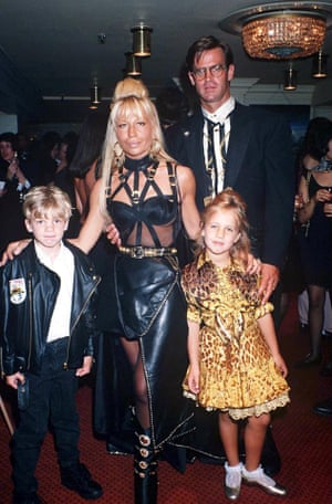 Donatella and her husband Paul Beck and their children in 1992.