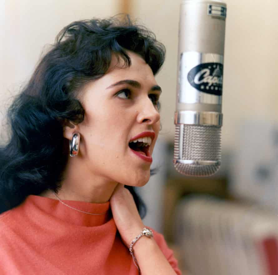 Belting it out in the studio, circa 1970.