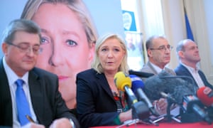 Marine Le Pen at a Front National press conference