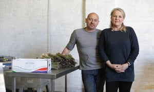 Richard and Ronda Morritt on  Sand Hutton Asparagus Farm in Yorkshire.