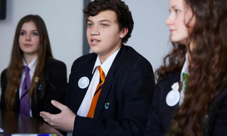 Pupils at Penistone grammar school in south Yorkshire.