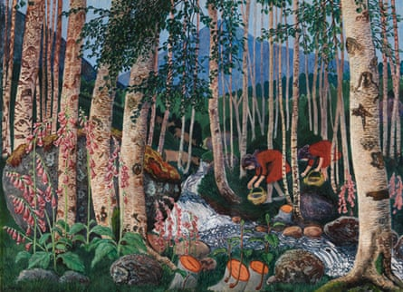 Foxgloves, 1927, by Nikolai Astrup