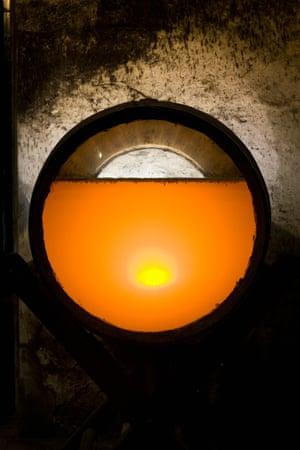 Flor in sherry barrel