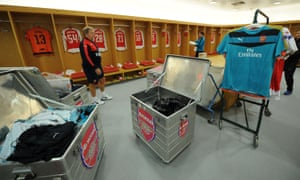 Arsenal's changing room