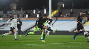 Gabriel Jesus doubles Manchester City's lead.