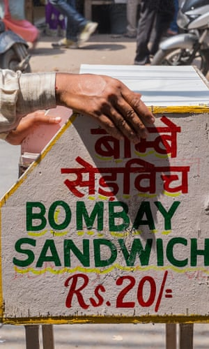 Sign advertising Bombay Sandwich