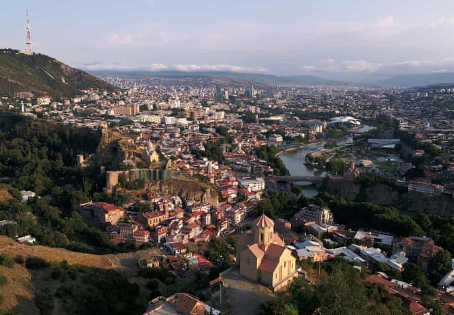 Tbilisi in the morning light.