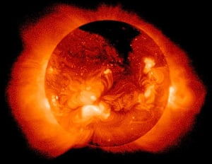 The sun's corona glowing in x-rays