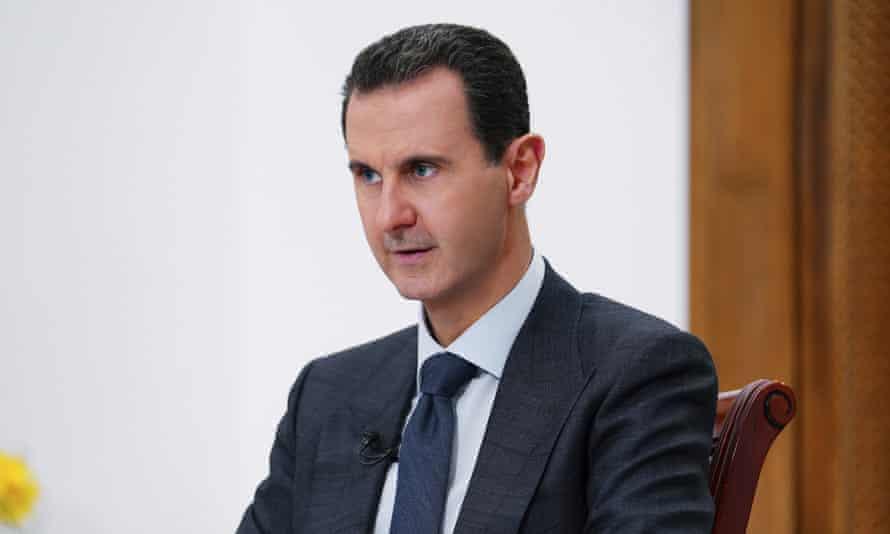 The Syrian president, Bashar al-Assad, in Damascus, November 2019.
