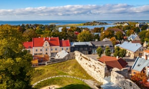 A view of Haapsalu from the castle tower.