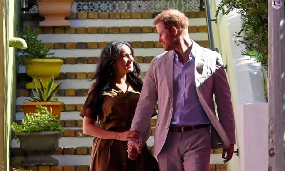Duke and duchess of Sussex pictured in South Africa last September