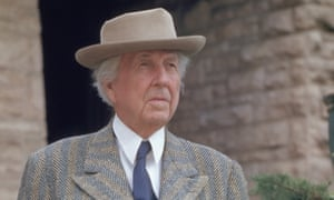 Frank Lloyd Wright outside his home, Taliesin, in 1947