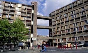 Deck access local authority council housing, part of Park Hill Estate, Sheffield UK