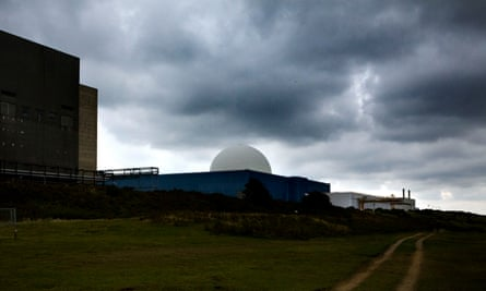 Nuclear power station in Suffolk, England, one of 12 sites undergoing decommissioning.