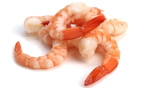 Prawns … the British love exotic foreign varieties, but are less keen on the – very similar – local types.