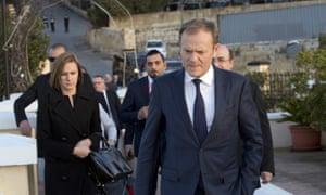 European council president Donald Tusk in Malta on Thursday