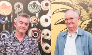 'I felt we shared a sense of humour' … cartoonist Dix, left, and writer Jim Broadbent.