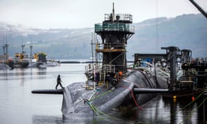 Faslane nuclear naval base in Scotland.