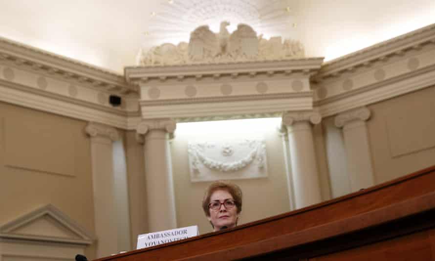 Marie Yovanovitch testifies Friday on Capitol Hill in Washington DC.