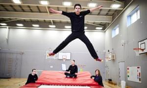 Springwell pupil trampolining
