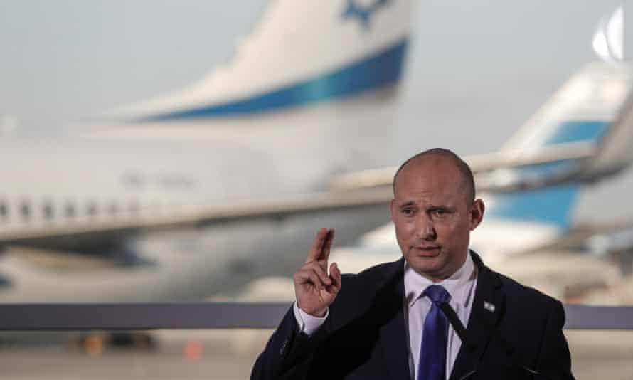 Israel's new prime minister, Naftali Bennett, in Tel Aviv, June 2021