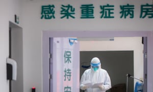 A medic at a hospital in Wuhan