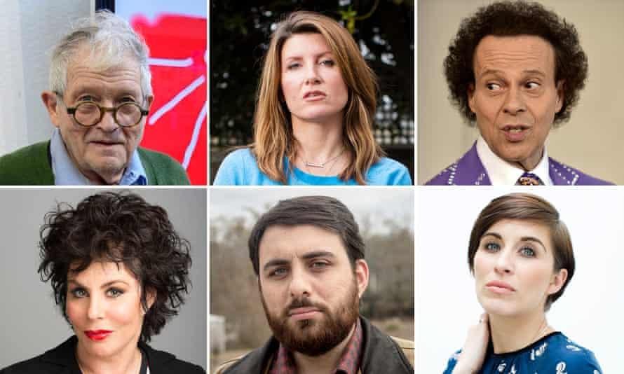 David Hockney, Sharon Horgan, Richard Simmons, Vicky McLure, Brian Reed and Ruby Wax