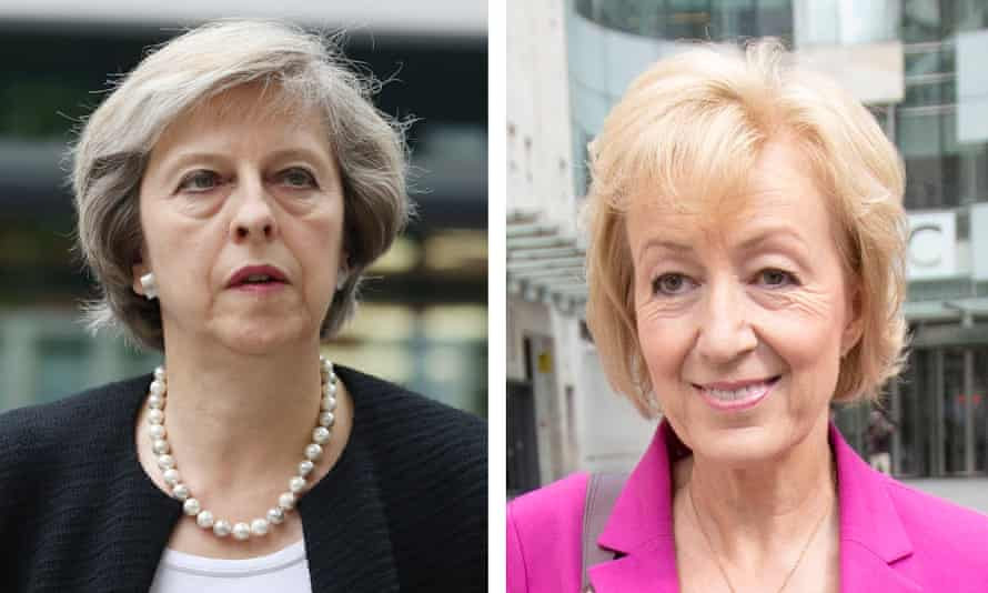 Theresa May (left) and Andrea Leadsom