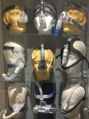 Modern sleep masks, this time a variety of continuous positive airway pressure (CPAP) ventilators.