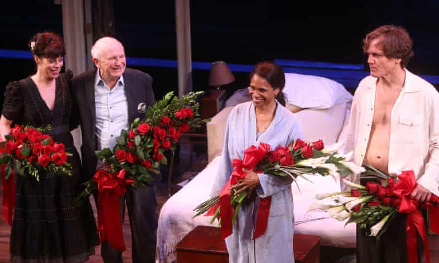 Opening night of Frankie and Johnny in the Clair de Lune, 2019 … from left, Arin Arbus, Terrence McNally, Audra McDonald and Michael Shannon.