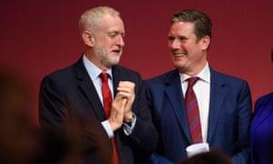 Jeremy Corbyn and Keir Starmer.