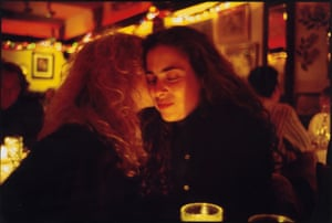 Lynette and Donna at Marion's Restaurant, NYC, by Nan Goldin, 1991