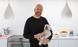 Matt Haig photographed at home in Brighton with his dog Betsy