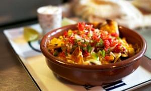 A dish of nachos at the Nah Nah Bah