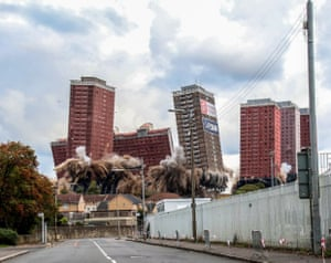 Lesley Smith Red Road Flats, Glasgow, Scotland entitled Demolition, which has won the Urban view 2016