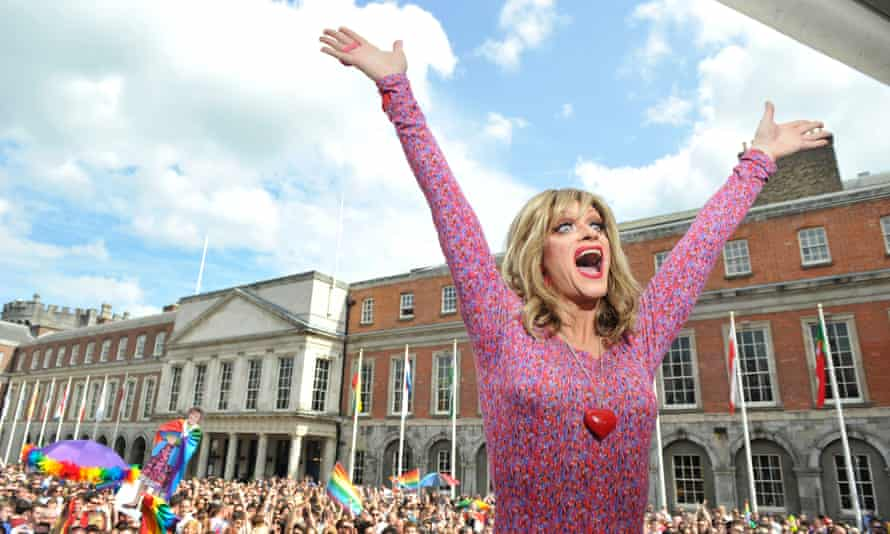 A brilliantly articulate campaigner … Panti Bliss celebrates in Dublin, following the same-sex marriage referendum in 2015.