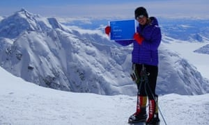 Maria Strydom during a climb in Alaska last July. She is one of three people to have died on Everest.