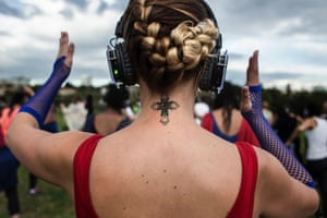 'With your earphones, you pretty much block out everything.,' said a participant. 'You can dance where no one cares if you can dance. Last time I did this, I had the most amazing day at work, so it is just a good start to the day.'