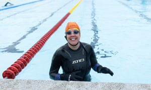 Hillingdon lido, north-west London. Diane Stephan, 59, says cold-water swimming keeps wrinkles at bay
