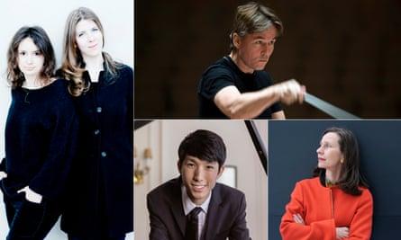 Stand-out performances … Patricia Kopatchinskaja and Polina Leschenko, Esa-Pekka Salonen, Sabine Liebner and Eric Lu