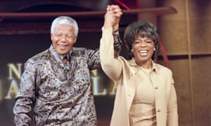 Nelson Mandela on The Oprah Winfrey Show in 2000.