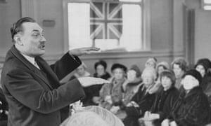Enoch Powell speaking in Stockport in 1968