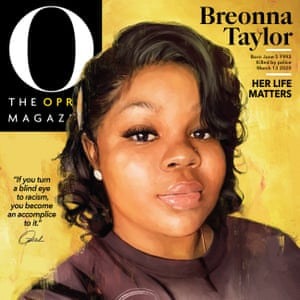 The September issue of the Oprah Magazine. 'If you turn a blind eye to racism, you become an accomplice to it,' Winfrey said.