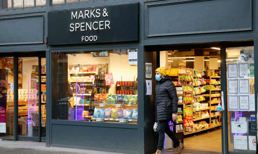 An M&S food store in Paris. UK firms find goods not largely made in Britain could attract tariffs.