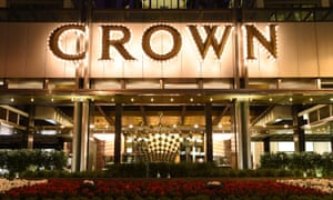 front view of a crown casino