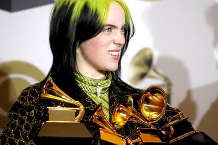 Billie Eilish aux Grammy Awards 2020.