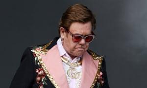 Elton John performs at Mount Smart Stadium on Sunday in Auckland, New Zealand