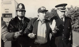 Arthur Scargill is arrested at the Orgreave picket line