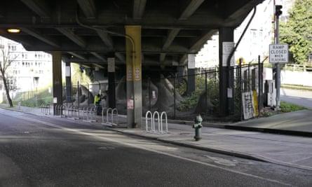 Seattle anti-homeless bike racks
