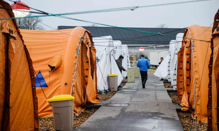 Refugee tent camp in Thisted, Denmark, 2016.